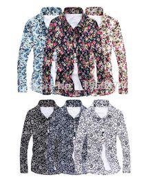 Wholesale-2015 New Men Floral Shirts M-5XL Fashion Casual Slim Fit Camisas Business Dress Floral Print Homme Shirts
