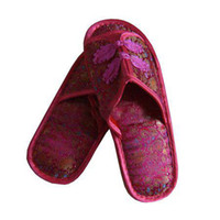 Wholesale Women s Indoor Slipper Craft Slippers Fashion Slipper Silk Rubber Sole Stain Slipper pair mix Free