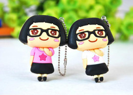 Wholesale Mini Cartoon Girl Manicure Nail Clipper Cutter Bag Charm Keychain Assorted Styles in hot sale