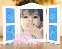 baby hand footprints - Wood photo frame hand inkpad baby footprints baby souvenir hand foot hand inkpad with g inkpad