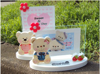 baby bear photos - piece Inch children baby Rotating Photo Frame Novelty Transparent bear with Strawberries photo frame