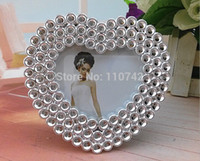 abs resin price - Low price ABS resin heart silver plated photo frame picture frame home decoration gift amp craft