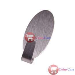 Wholesale Coins Cart Home Kitchen Wall Door Self Adhesive Stainless Steel Stick Holder Hook Hanger