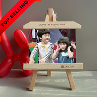 Cheap Wholesale-7-inch wood frame easel creative personalized photo frame product slate frames swing sets wholesale home decoration