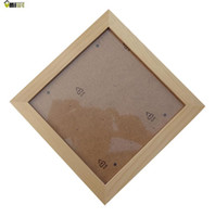 Cheap Wholesale-Umiwe Square Thick Pine Wood Photo Frame Wall Picture Frame (Wood Color,7 Inch)
