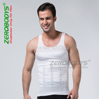 Cheap Wholesale-1pcs Slim vest Men Slimming lift Shirt 70D Undergarment Shaping Vest Elimination Of Male Beer Belly Body Shaping Garment