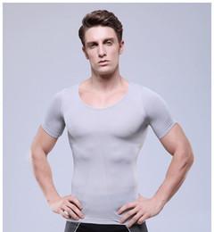 Wholesale Shaper serre taille formateur perdre du poids corporel minceur t shirt slimming corset for men waist training corsets for men