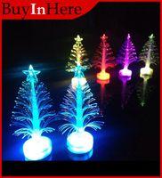 Cheap Wholesale-7 Color Change USB PC Flashlight Christmas Tree Xmas Novelty Fiber Pvc Led Light Wishing Cupula Sparkling Decoration
