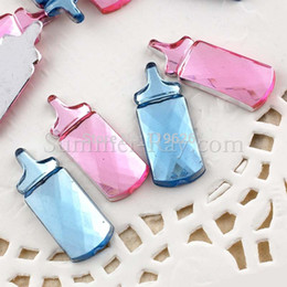 Wholesale HOT Milk bottle baby shower party decoration table decoration acrylic rhinestone for clothes scrapbook crafts diy