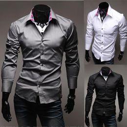 Wholesale-hot sell new 2015 men shirts long sleeve Shirt lining plaid long-sleeve shirt casual dress mens designer clothes