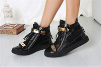 women footwear - men women running sneakers genuine leather golden metal guiseppe brand new arrival footwear zanotty