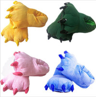 adult dinosaur slippers - Adult indoor shoes Foam bottom cartoon dinosaur slippers shoes home indoor shoes dinosaur claws