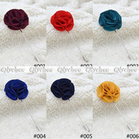 fabric flower pin - new fashion style men lapel pin brooch flower suit boutonniere fabric yarn pin colors button flower broochers