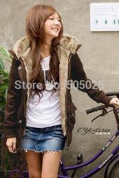 Wholesale-Mex jacket long winter fur hoodie women plus velvet fur collar thick long sleeve cardigans jacket   Coat   Hoodies