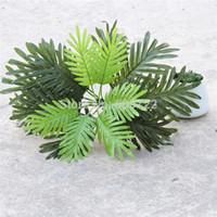 artificial coconut trees - New Year Leaf cm Set Sago Wedding Home Decor Artificial Phoenix Coconut Palm Plant Tree Bonsai Fake Foliage Green FL1515