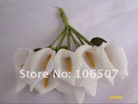 achat en gros de fleur scrapbooking gros-Handmade Mini Calla Lily fleur de gros-gros et de détail Wedding Favor Decor Scrapbooking (White, 144pcs) - Livraison gratuite