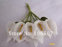 Wholesale and retail Handmade Mini Calla Lily Flower Wedding Favor Decor Scrapbooking White