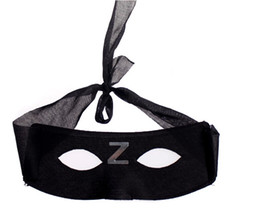 Wholesale-New Half a face mask with Z eye mask of zorro Mask Halloween Cosplay