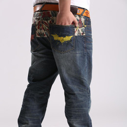 Wholesale Big size Men jeans with Printing style Casual Men Jeans Vintage Blue True Jeans Male Denim Overall Jean pants