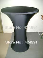 bar table base - Black Lycra Dry Bar Cover round based Cocktail table cover amp dry bar cover for wedding event amp party decoration