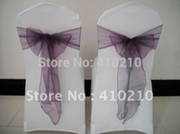 Wholesale intotal White chair cover with Free chair sash Spandex chair cover Organza chair sash factory price