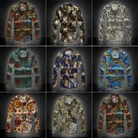 Wholesale New Men Floral Shirts M XL Fashion Casual Slim Fit Camisas Business Dress Floral Print Homme Shirts M810