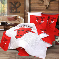 basketball comforter sets - Basketball Fans Bulls Comforter Bedding Set Cotton Duvet Cover Set Full Queen King Size TC