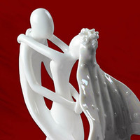 ceramic figurines - Wedding Favor Bride amp Groom Ceramic Figurine Wedding Cake Topper Perfect attachment