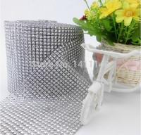 background modeling - rows wedding decoration silver diamond mesh Roll Rhinestone Ribbon Crystal Wrap wedding party properties background modeling
