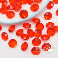 acrylic filler beads - LiNg s pieces Carat Red Acrylic Diamond Confetti Beads Centerpiece Filler For Wedding Party Supply