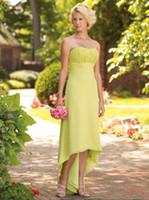 2011 prom - 2011 Custom Made Prom Bridesmaid Dress BC11000 A Line Hi lo Chiffon Pleated Floor Length Gowns