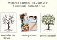 alternative wedding decorations - x60CM Customized Wedding Fingerprint Tree Guestbook Alternative Thumbprint Guest books for Wedding Decoration Canvas Poster