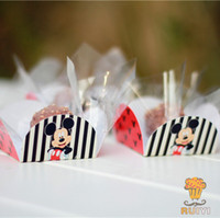baby shower candy bar wrappers - Mickey Mouse cupcake wrappers decoration Kids birthday party favors chocolate candy box bar baby shower