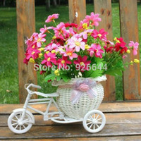best bike baskets - Best Selling White Tricycle Bike Design Flower Basket Storage Container Party Weddding Basket Storage