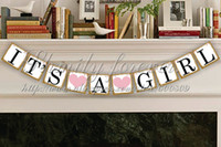 announcement photo - Its A Girl Banner Party Photo Prop Baby Announcement Garland Baby shower garlands