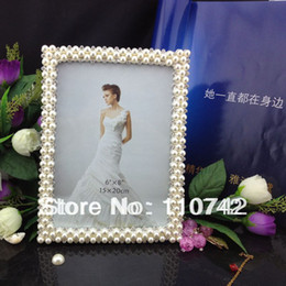 Wholesale-free shipping Pearl+diamond zinc alloy picture frame photo frame square 6x8 INCH for gifting