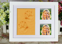 baby gift picture frame - New Gifts D Baby Picture Frame for photo Gifts Baby Photo Frame Family Photo Album For Infant Baby Foot Hand Prints Clay