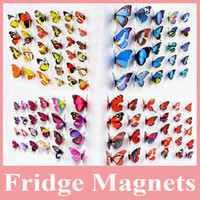 Wholesale Hot Sell Decorative Butterfly Magnet Artificial Butterflies for Home Decoration Butterfly Magnet for Fridge Magnet
