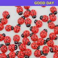 lady bug - Mini Painted Red Lady bug Wood Ladybug Magnet Stickers Book Paper Photo Sticker Fridge Sticker x10mm