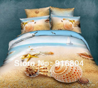 beach pictures hawaii - Hot Sale Queen Size New Arrival d Hawaii Seashell Beach Picture Cotton Duvet Cover Set for Bed