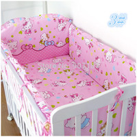 baby beding set - Kids Bedding Set Cotton Baby Girl Cot Bedding Sets With Bumpers And Fitted Sheet Filling Cotton Baby Crib Beding Sets