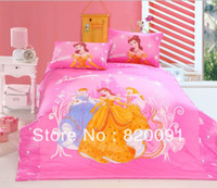beautiful baby quilts - or Piece Twin Full Queen Size Pink Beautiful Princess Bedding Bedclothes Duvet Quilt Cover Set for Baby Girls Quality Cotton