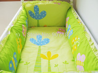 baby bedding world - Baby Bedding Set Sea World Baby Cot Crib Bedding Set Cotton Baby Bedclothes For Baby Cot Including Bumpers And Sheet