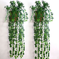 artificial foliage - New Arrival M pc Artificial Ivy Leaf Garland Plants Vine Fake Foliage Flowers Home Decor Fashion Decorative Flowers