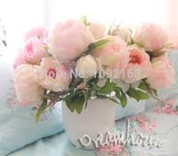 big flower arrangements - COLORS Bunch Big Silk Peony Flowers For Wedding Bouquets Centerpieces Home Arrangement Decoration Artificial Flowers