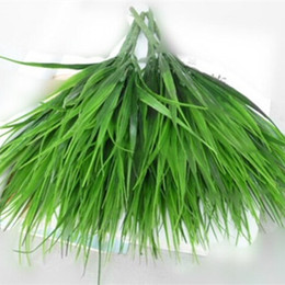Wholesale High Quality Brick artificial plants green grass plastic Simulation plants home decoration flower fork Spring grass
