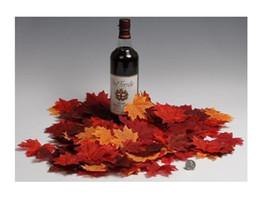 Wholesale DIY Fall Silk Leaves Wedding Favor Autumn Maple Leaf Party Table Decoration colors