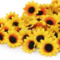 artificial flowers gerbera - New Brand New x Artificial Gerbera Daisy Silk Flowers Heads for Diy Wedding Party Yellow Sunflower