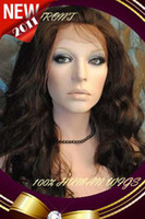 Wholesale 2014 New Gorgeous quot quot Chocolate Brown Body Wave Lace Front Human Hair Wigs Indian Remy Hair