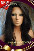 Wholesale New Gorgeous quot B Natural Black Body Wave Lace Front Human Hair Wigs Indian Remy Hair